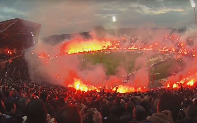 Aek Scoccer Fans Ring Of Fire