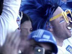 Fans celebrating for Greece