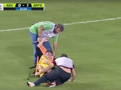 Viral: Injured player at Larissa - Ergotelis